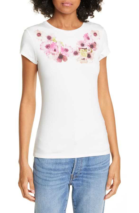 Ted Baker Neopolitan Fitted Tee In Ivory