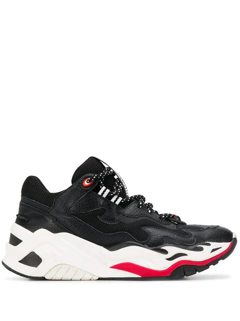 Just Cavalli P1thon Sneakers In 900 Black