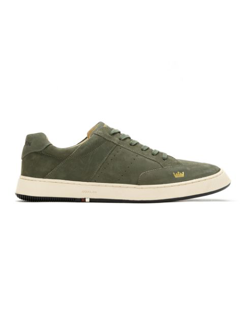 Osklen Leather Panelled Sneakers In Green