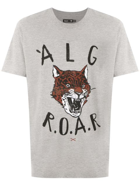 ÀLg Roar Print T-Shirt - Grey In Gray