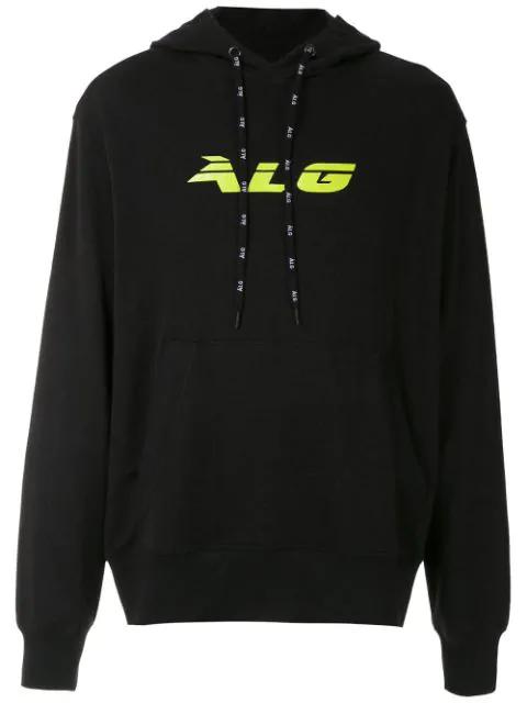 ÀLg Logo Printed Hooded Sweatshirt - Black