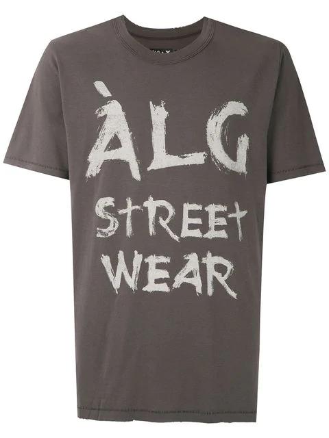 ÀLg Brushstroke Logo T-Shirt - Grey