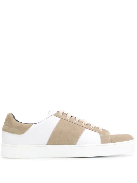 Etro Two Tone Low Top Sneakers In Neutrals