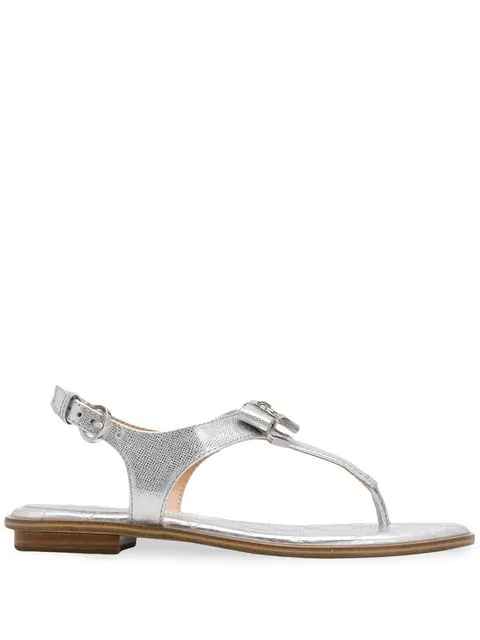 Michael Michael Kors Quilted Sole Sandal In Metallic
