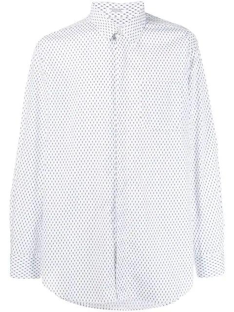 Engineered Garments Seahorse Print Shirt In White
