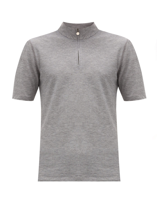 Iffley Road Sidmouth Piqué T-shirt In Grey