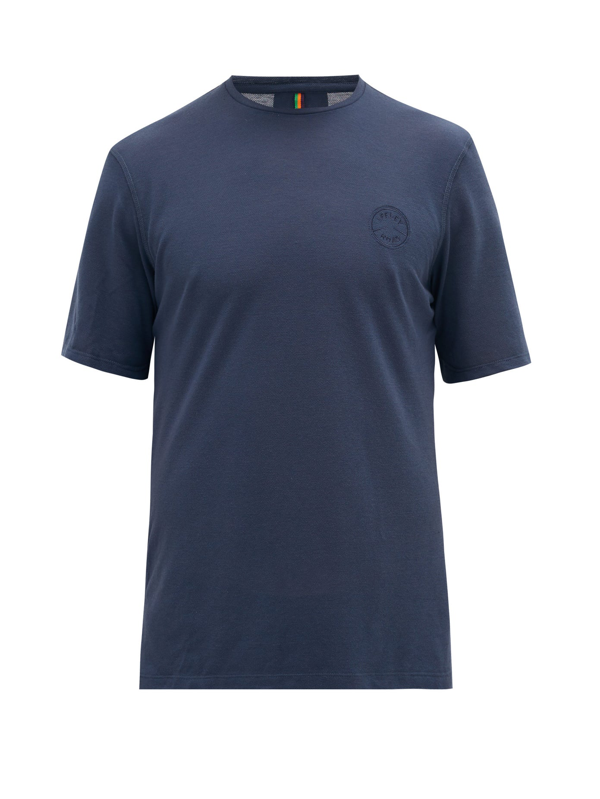 Iffley Road Cambrian Piqué T-shirt In Navy