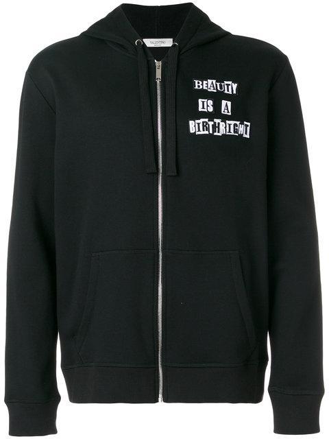 Valentino Men's Hoodie Sweatshirt Sweat In Black
