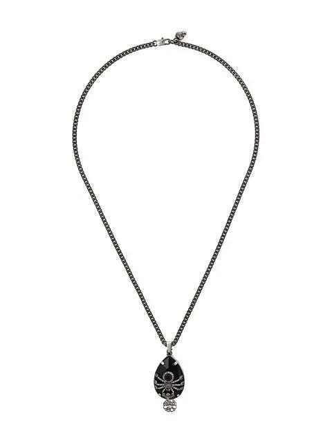 Alexander Mcqueen Spider Necklace - Black