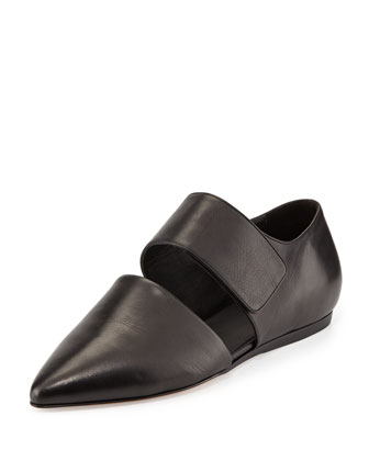 Vince 'Niven' Pointy Toe Leather Flat (Women) In Black