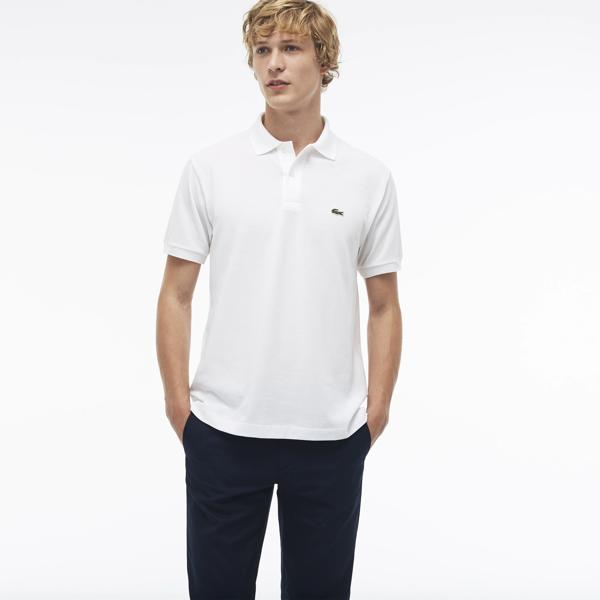 Lacoste Men's L.12.12 Cotton Petit Piqué Polo In White