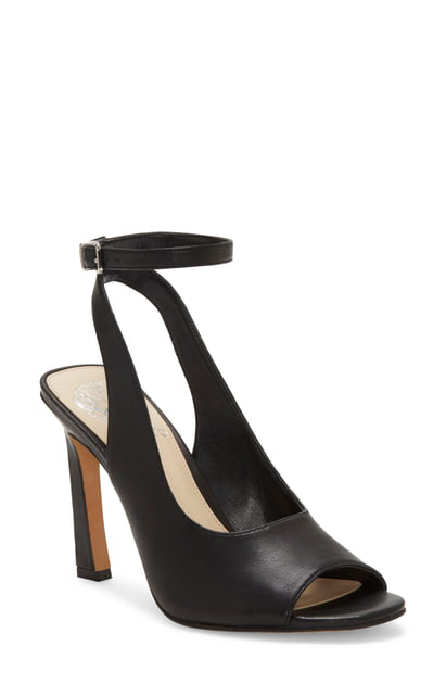 Vince Camuto Women's Reteema Leather High-Heel Sandals In Black Leather