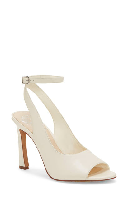 Vince Camuto Women's Reteema Leather High-Heel Sandals In Warm White Leather