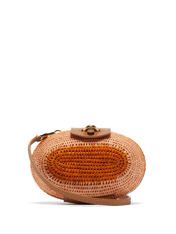 Khokho Lindi MinaudiÈre Leather-trimmed Basket Bag In Pink Multi