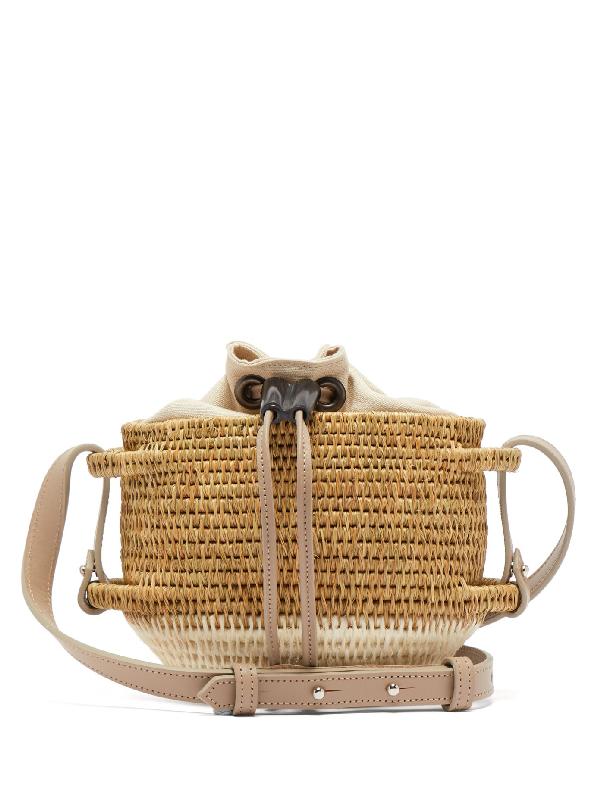 Khokho Thembi Basket Cross-body Bag In White Multi