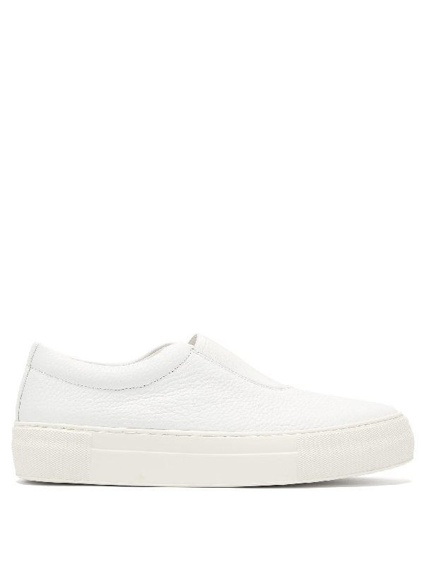 Primury Basal Slip-on Leather Trainers In White