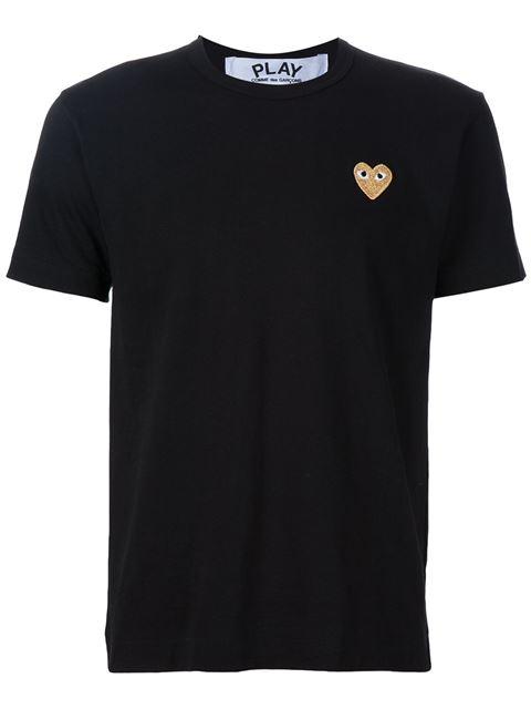 Comme Des Garçons Play Heart Logo T-shirt In Black