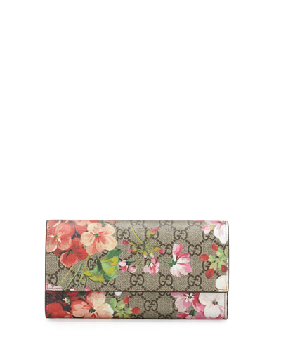 Gucci Gg Blooms Supreme Leather Wallet, Multi Rose In A