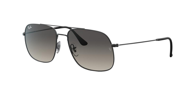 Ray Ban Ray-ban Rb3595 Rubber Black Sunglasses In Grey-black