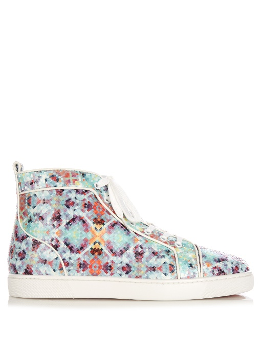 new styles a2f21 9cd29 Louis Spike-Python Pixelated High-Top Trainers in Multicoloured Pixelated  Python Heel Tab