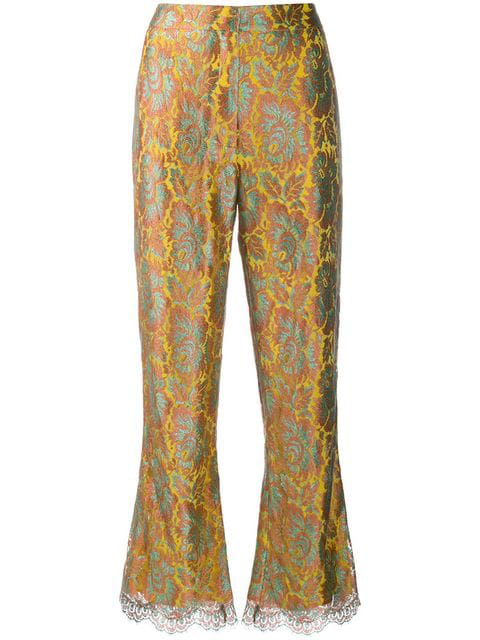 Etro Cropped Flare Trousers - Yellow