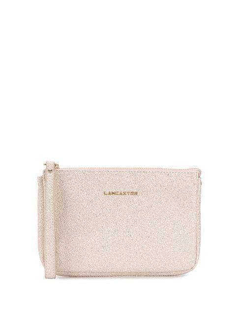 Lancaster Glitter Clutch Bag In Pink