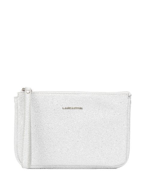 Lancaster Clutch Im Glitter-look In Silver