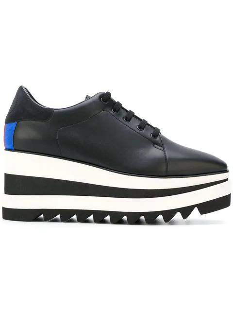 Stella Mccartney Elyse Faux-Leather Platform Shoes In Black