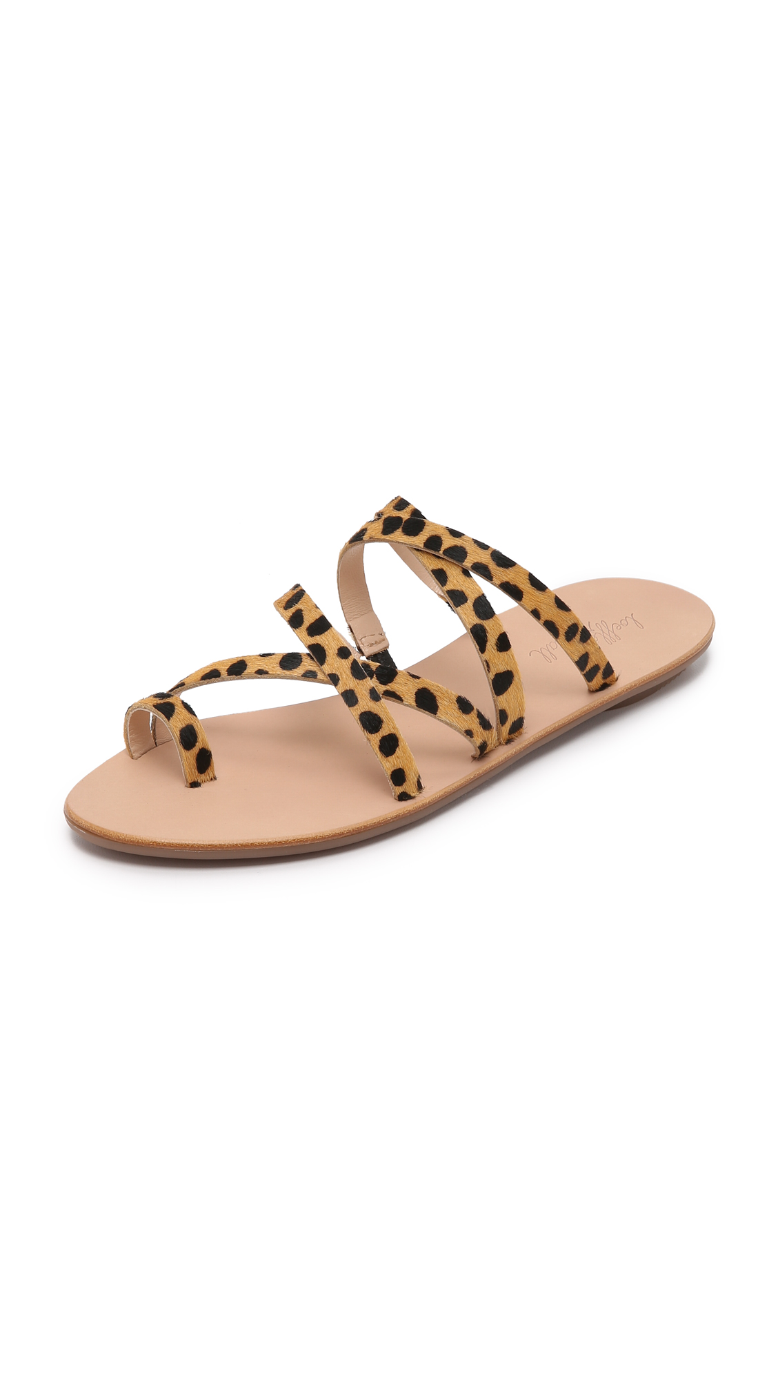 510aa6490 Loeffler Randall Sarie Strappy Cheetah-Printed Calf Hair Sandals ...