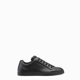 Fendi Men's Bag Bugs Leather Low-Top Sneakers In Black