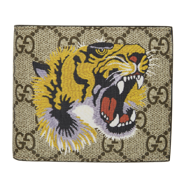 a258b00d Tiger Printed Gg Supreme Classic Wallet in 8666 Eb/Mul