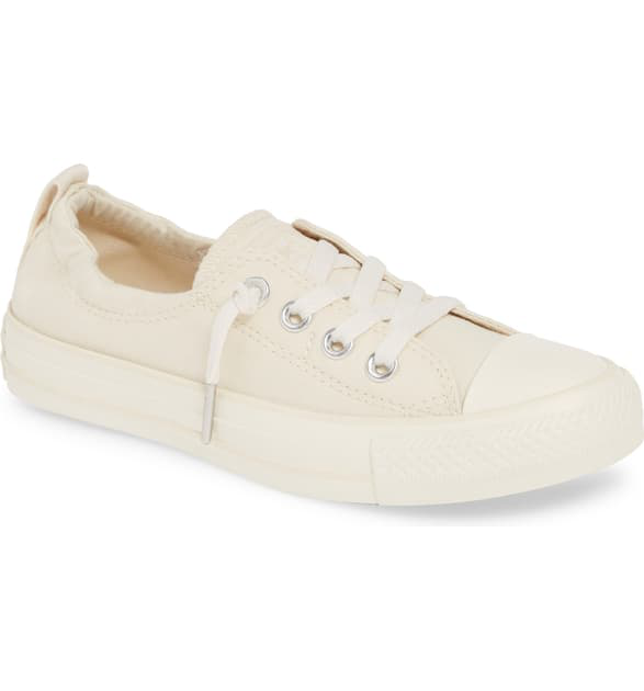 Converse Chuck Taylor All Star Shoreline Low Top Sneaker In Natural Ivory/ Egret/ Egret