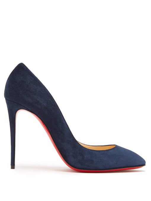 official photos 058f2 a7510 Eloise 100 Dark Blue Suede Pumps in Navy