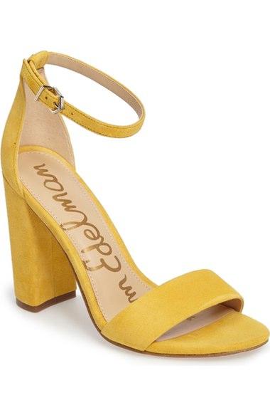 71e4b59dc183 Sam Edelman Yaro Heel In Sunset Yellow Suede
