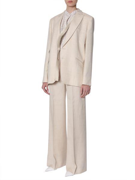 Stella Mccartney Wide-Leg Trousers In Neutral