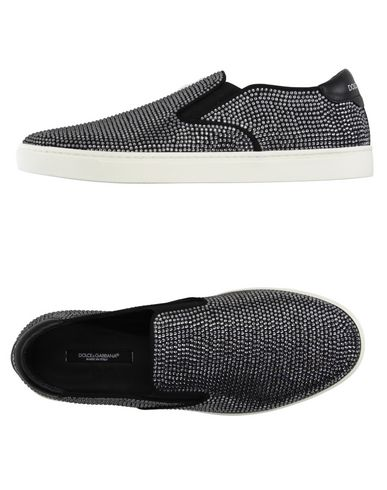 Dolce & Gabbana London Slip On Sneakers With Crystals In Black