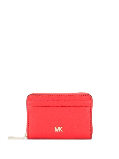 Michael Michael Kors Logo Embellished Coin Purse In Red