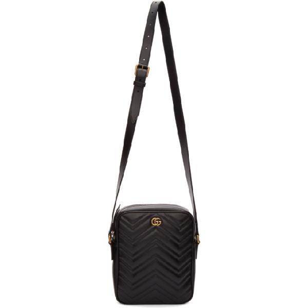 9a5f36b7ed9ff8 GUCCI Men's Leather Cross-Body Messenger Shoulder Bag in 1000 Black. Gucci  Men