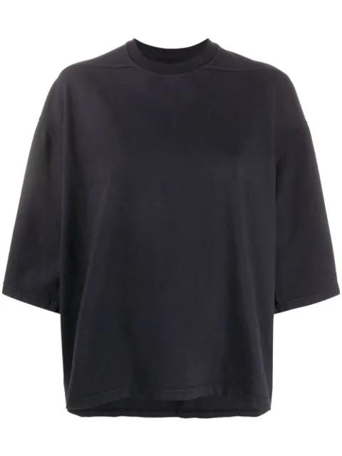 Rick Owens Drkshdw Short Sleeve Sweatshirt In Blue