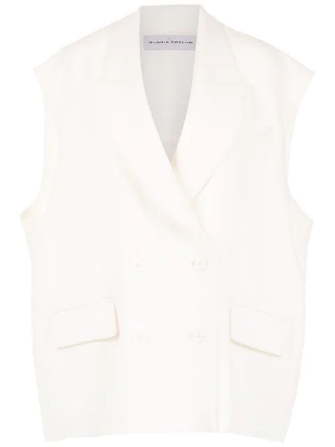 Gloria Coelho Sleeveless Jacket In White