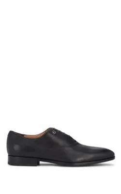Salvatore Ferragamo Men's Toulouse Pebbled Leather Oxford Dress Shoe In Black
