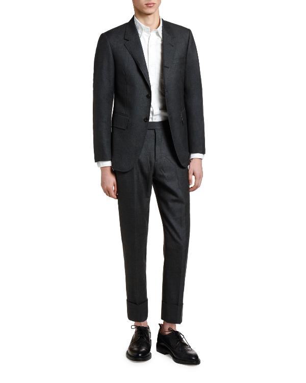 Thom Browne Men's Wool Two-Piece Suit In Dark Gray