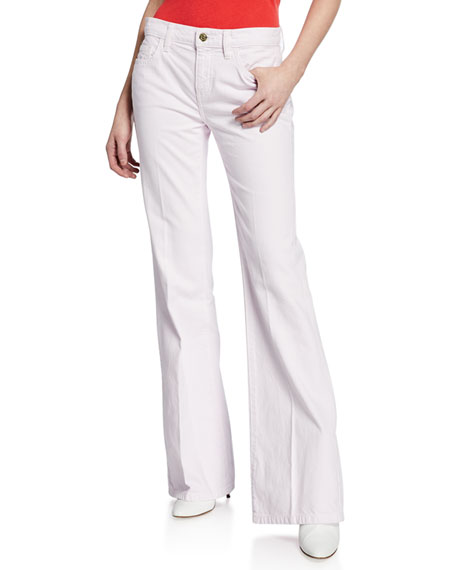 Current Elliott Current/Elliott The Wray Wide-Leg Jeans In Orchid In Pastel Pink