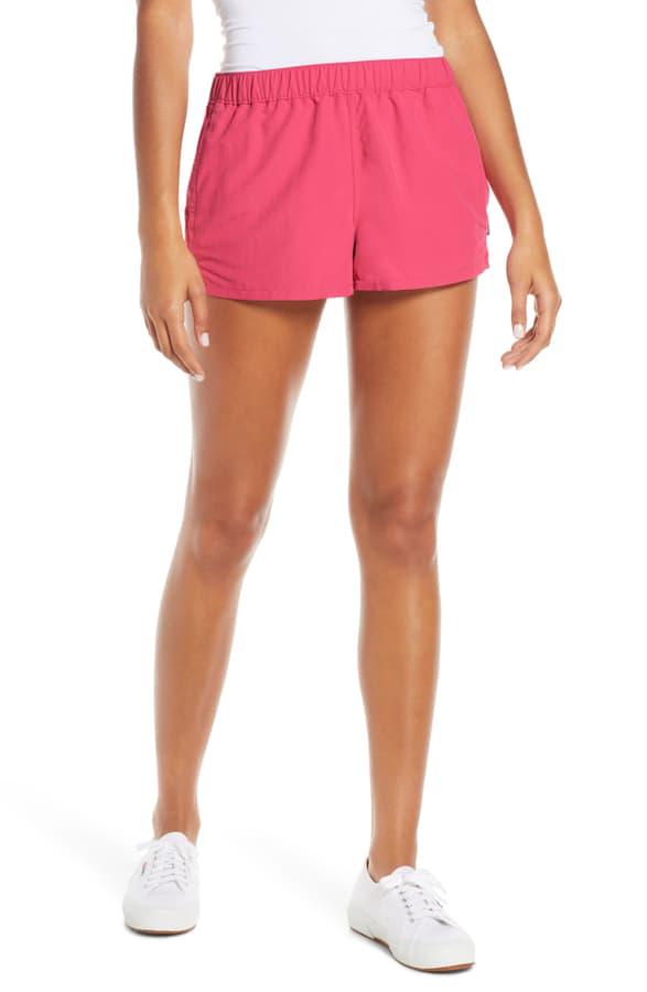 Patagonia Barely Baggies Shorts In Reef Pink