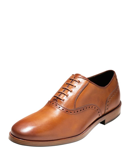 Cole Haan Hamilton Grand Plain-Toe Oxford, British Tan In British Tan Leather
