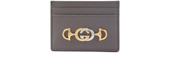 Gucci Zumi Cardholder In Grey