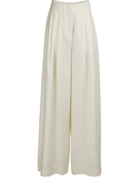 Zimmermann Wide-Leg Wool Pants In Pearl