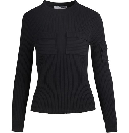 CourrÈGes Patch Pocket Top In Black