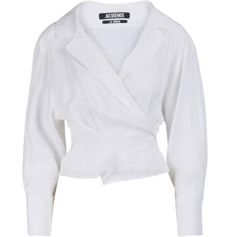 Jacquemus Verona Shirt In Optic/White