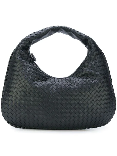 4878753677c5f Bottega Veneta Maxi Veneta Intrecciato Leather Shoulder Bag In Black ...
